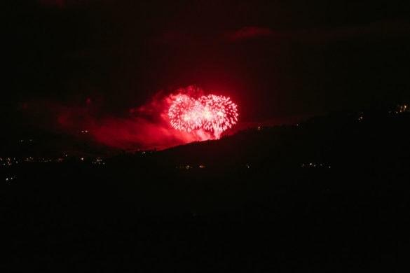 Vuurwerk in de Chianti, Toscaanse bruiloft