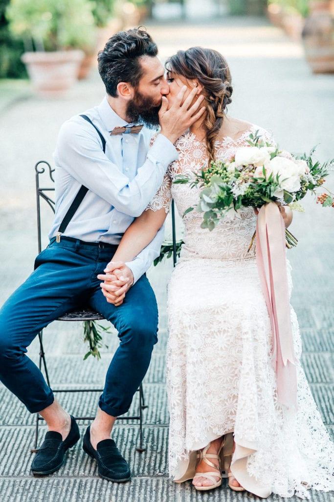 Elopement bruiloft privé villa Toscane