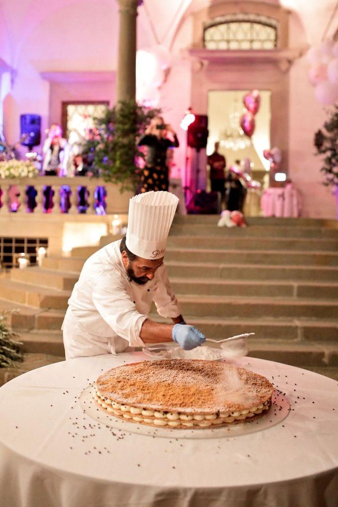 Millefoglie Hochzeitstorte Toskana, exklusive Hochzeit.