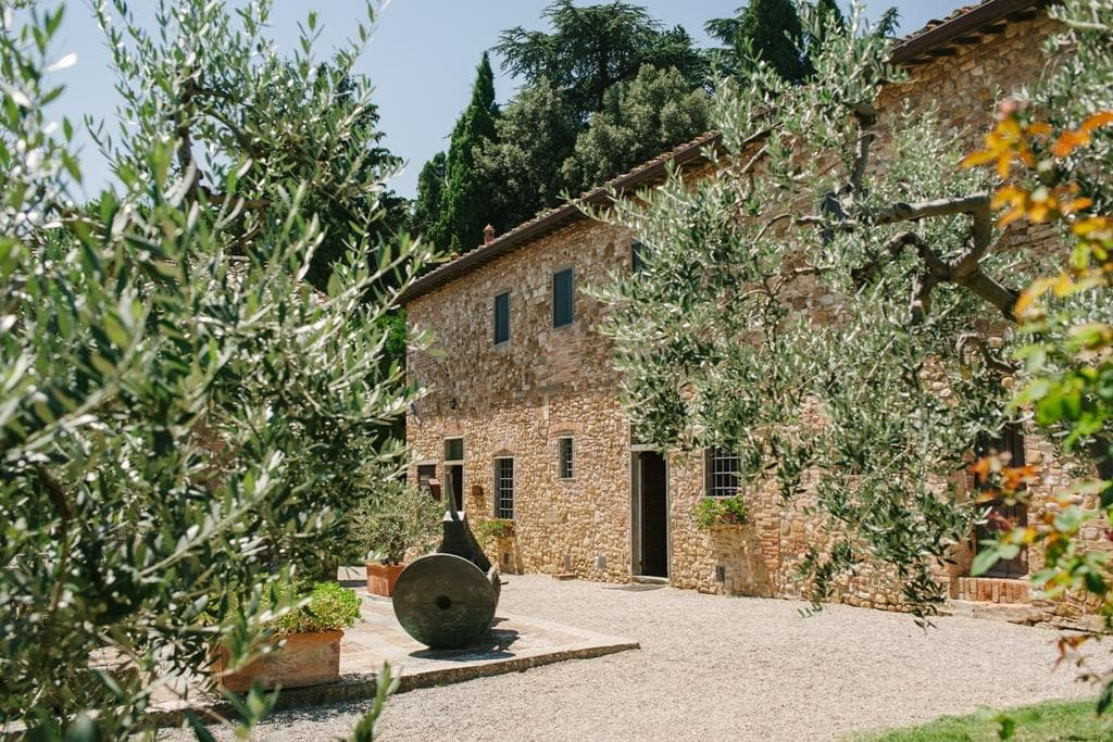 Gorgeous wine and olive oil producing borgo in the heart of the Chianti Classico.