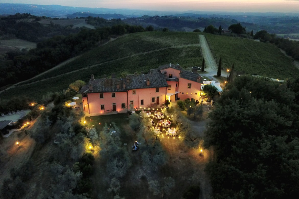 Wedding venue agriturismo in Tuscany