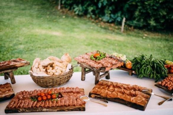 Aperitif at wedding in Tuscany