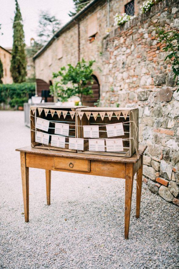 Wedding tableau bohemian style agriturismo Tuscany
