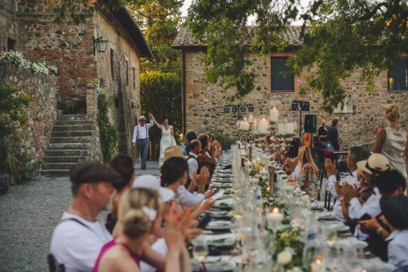 Huwelijksdiner met kaarslicht in Toscane, Crete Senesi