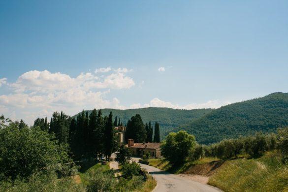 Hochzeitsort in der Toskana, Schloss in den Hügeln des Chianti