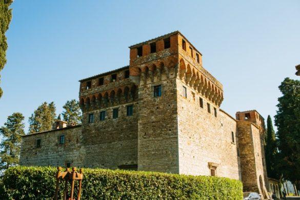 Mittelalterliche Burg in der Toskana