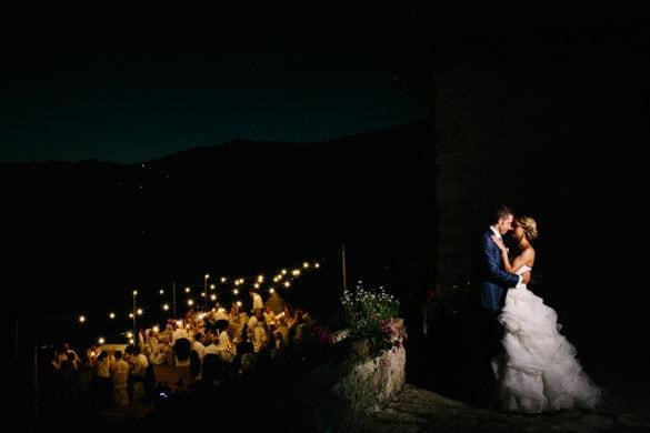 Brautpaar am Abend Hochzeitsporträt Toskana