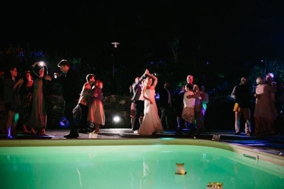 Hochzeitsfest Toskana pool party