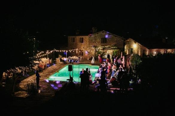 Hochzeitsfeier im Freien Toskana