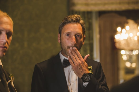Bräutigam Zivilehe zeremonien Toskana