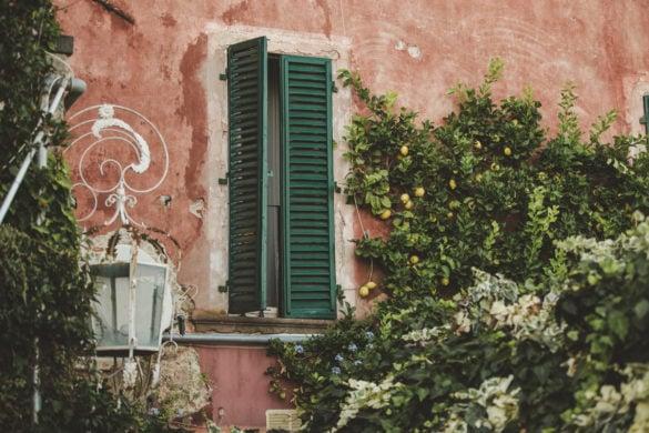 Detail Hochzeitsvilla mit Zitronenbäumen