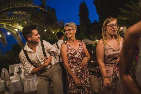 Hochzeitsfeier in der Toskana