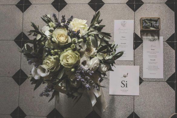 Detail Brautstrauss Hochzeitsmenü