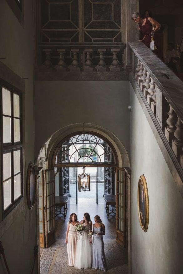 Ankunft Braut Lucca Palazzo Orsetti Toskana