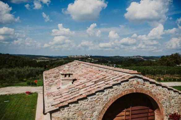 Hochzeitsorte mit Panoramablick auf Monteriggioni