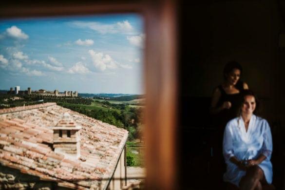 Vorbereitungen Braut Hochzeitsvilla Toscana